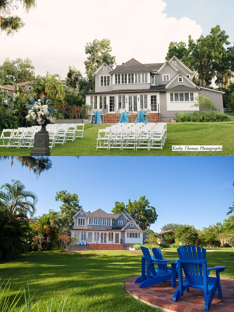 outdoor wedding venue in Florida with chairs
