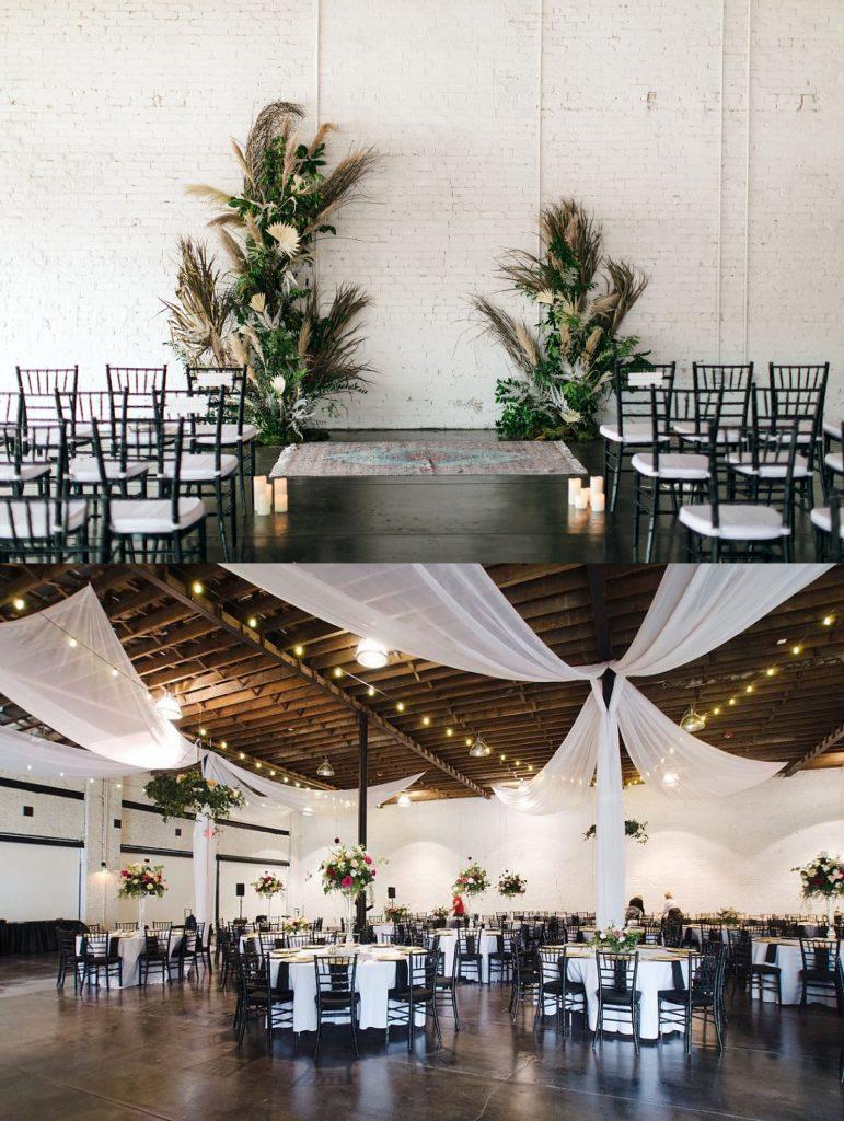 indoor industrial wedding venue