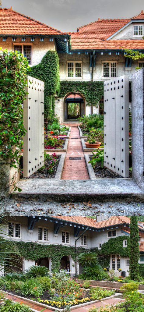 outdoor wedding venue with garden