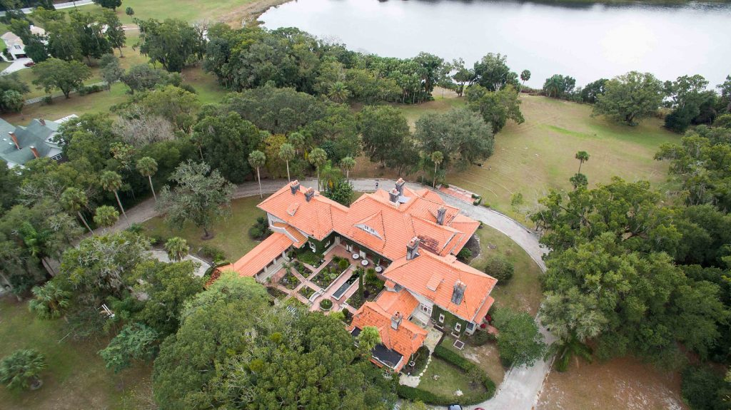 aerial view of wedding venue in Florida