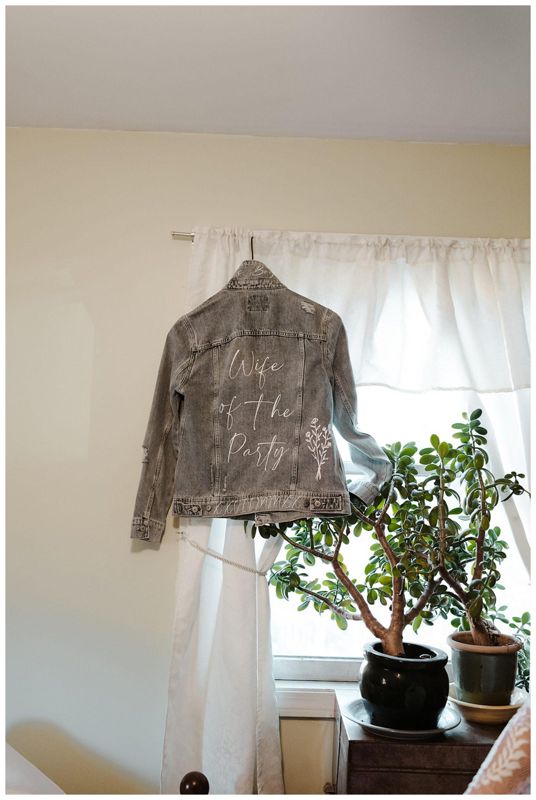 denim bridal jacket