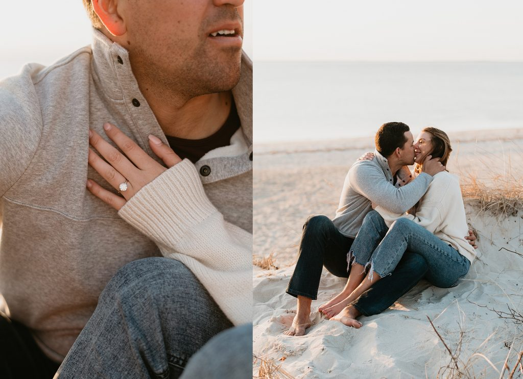 Couple on the beach in the cape