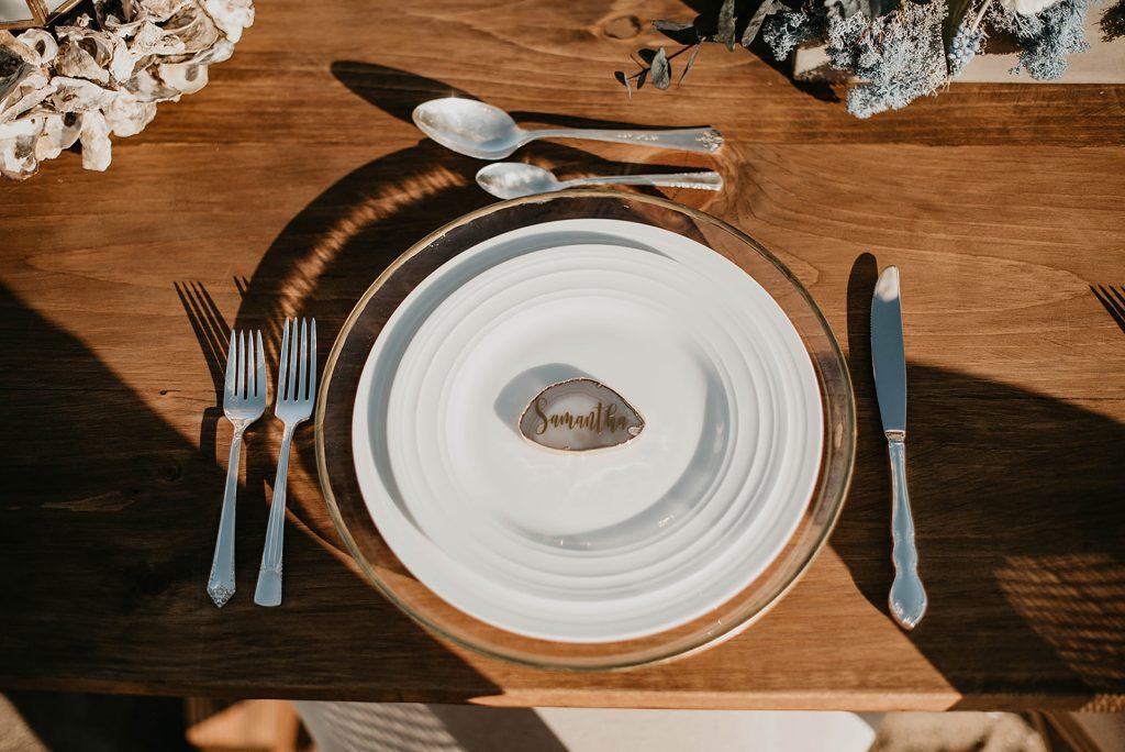 wedding plate brunch