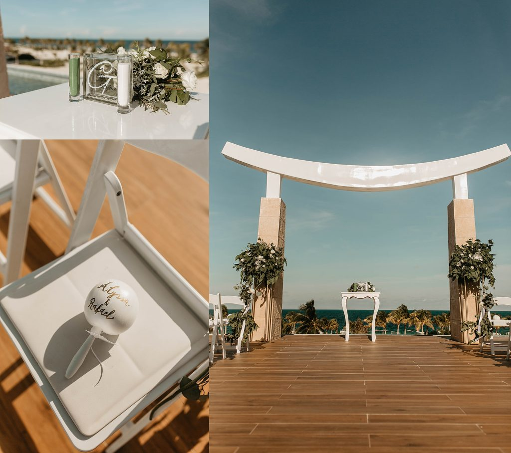 sunny wedding ceremony